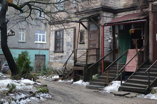 different buildings in Riga area