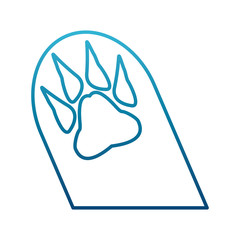 Animal footprint isolated icon vector illustration graphic design