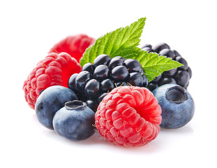 Fresh berries with leaf