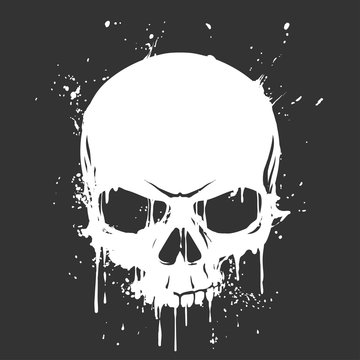 Grunge skull paint