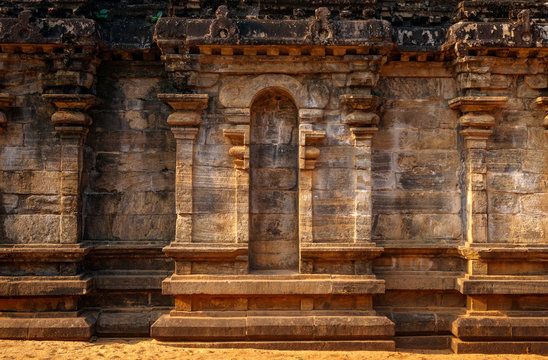 Detail of building in Unesco ancient city of Polonnaruwa, Sri Lanka