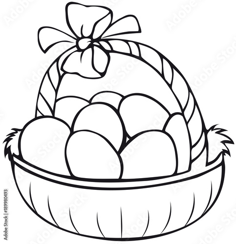 Easter basket coloring Page \