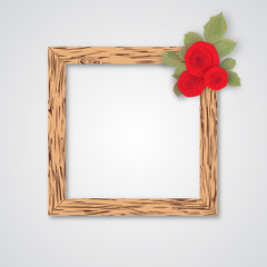 Design wooden photo frames with roses for your design