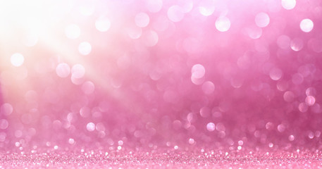Pink Glitter With Sparkle