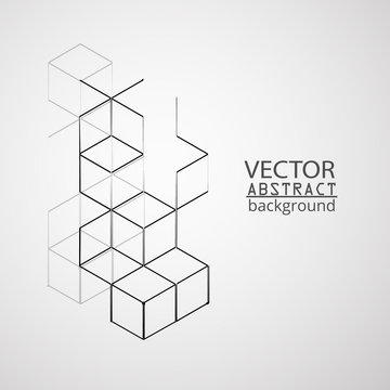 Vector illustration abstract geometry cube