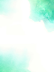 Watercolor background. Green, turquoise and blue colors