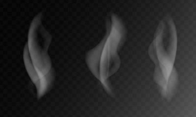 Vector illustration of smoke or steam