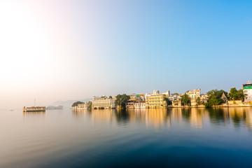 The lake Pichola on sunrise, Udaipur, India