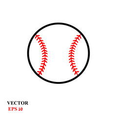 Baseball ball on a white background