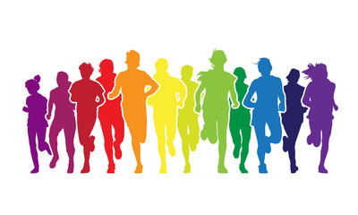 Running people