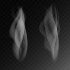 Set vector illustration of smoke or steam