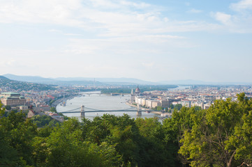 Skyline of Budapest from a hill