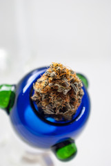 Cannabis Flower in Bowl - Strain: Cookie Wreak