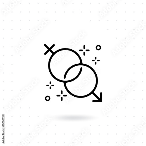 Gender Icon Male And Female Symbols Sex Vector Icon Gender