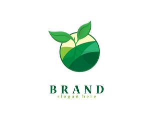 Organic plant logo
