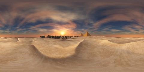 HDRI map. Environment map. Equirectangular projection. Spherical panorama. landscape.sandy desert.