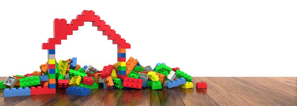 Plastic building blocks