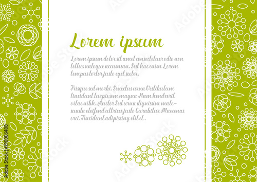 Love Letter Template With Floral Background
