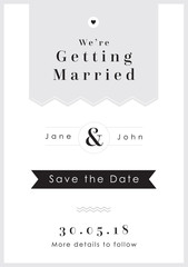 Save the Date Grey Tag theme