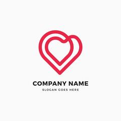 Infinity Heart Logo Design