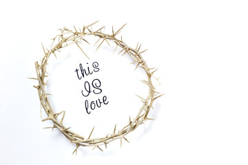 Crown of Thorns isolated on a white background