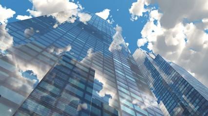 Beautiful panorama of skyscrapers,