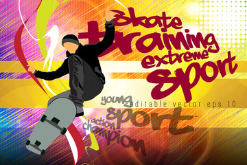 Extreme jump, sport background