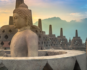 Borobudur Temple in Central Java, Indonesia