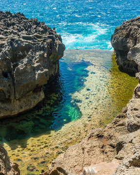 Broken Beach in Nusa Penida just off the island of Bali in Indonesia