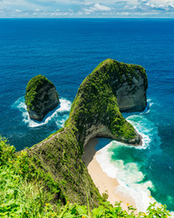 Kling Kling Beach in Nusa Penida just off of the island of Bali in Indonesia
