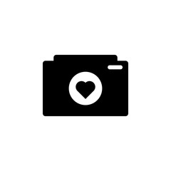 camera with heart icon. Element of love for mobile concept and web apps. Thin line  icon for website design and development, app development. Premium icon