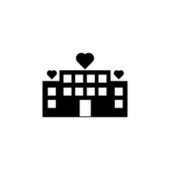 house of love icon. Element of love for mobile concept and web apps. Thin line  icon for website design and development, app development. Premium icon