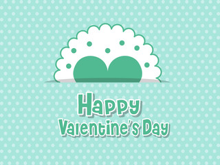 Happy Valentine's Day Love Symbol Heart On Color Background. holiday and decoration element. Vector illustration