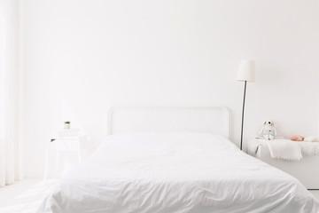 White bedroom modern furniture interior