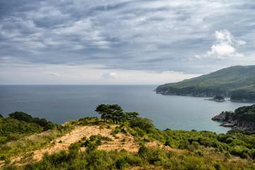 Russian Far Eastern Peninsula for Gamow. Beautiful view of the Bay of Teljakovskogo.