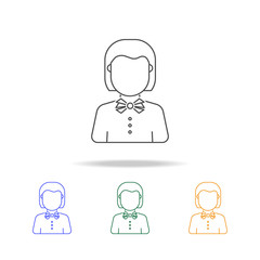 Teacher avatar multicoloured icons. Element of profession avatar of for mobile concept and web apps. Thin line  icon for website design and development, app development