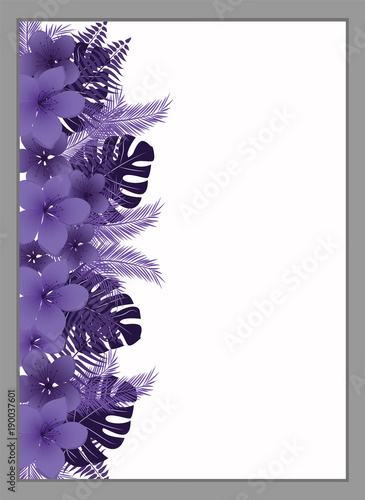 flower frame floral invitation template stock image and royalty