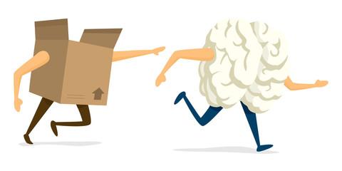 Brain thinking outside the box