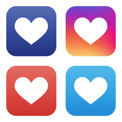 vector collection of like icons for social networks