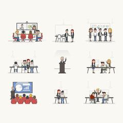 Illustration set of business people avatar