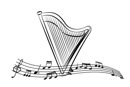 Harp in the sheet music.