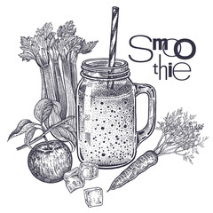 Diet food smoothies.
