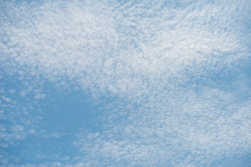 cloudy with blue sky background