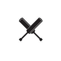 Cricket bat vector icon