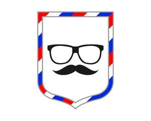 barber glasses shield eye glasses optics image vector icon logo