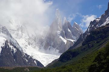 Glacier Torre and Cerro Torre Group at the Los Glaciares National Park, Argentina