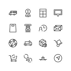 Delivery flat icon