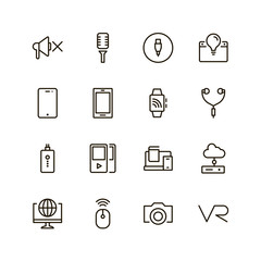 Device flat icon