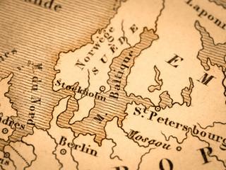 古い世界地図 北ヨーロッパ
