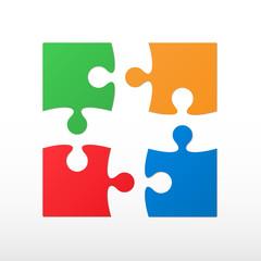 Four color piece jigsaw puzzle.